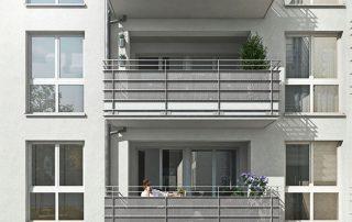 Außenansicht Gebäude Gilgaustraße (Visualisierung)