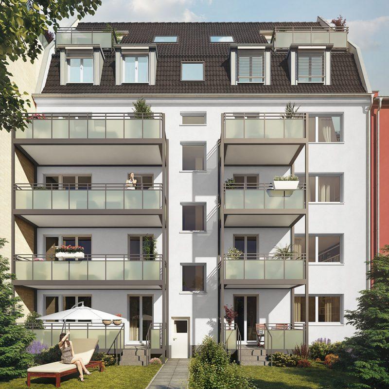 Außenansicht Immobilie Bülowstraße Köln