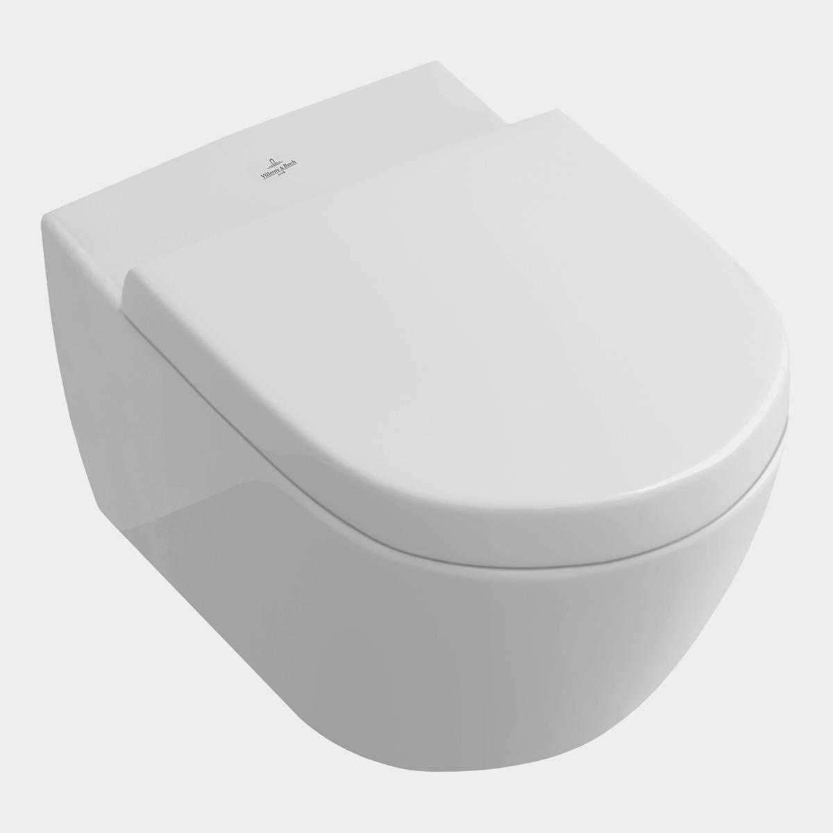 Weißes Hänge-WC